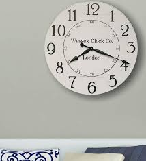 rustic decor large clock oversized