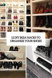 Ikea Shoe Organizer 12 Awesome Diy Ikea Hacks For Shoes Organization Shelterness