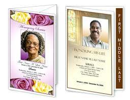 Inspirational Funeral Program Templates Publisher Template