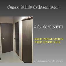 veneer wooden solid bedroom door for hdb bto furniture home decor on carou