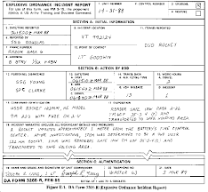 Incident Reporting Form Gorgeous FM 4444 Explosive Ordnance Disposal Service And Unit Operations