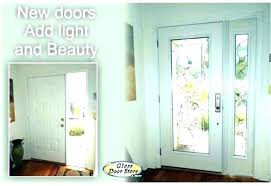 glass front doors 3 4 door exterior fiberglass entry modern with double without do