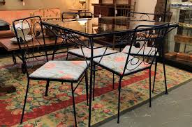 cool vintage outdoor table and chairs found in ithaca vintage metal and glass patio table chairs sold