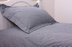 bed linen from lace and patchwork 404 black gingham sheets