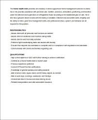 Home Health Aide Job Description for Resume