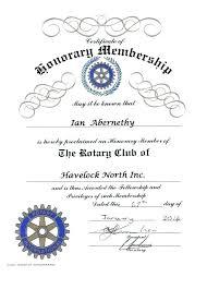 Honorary Membership Certificate Template Life Member Free