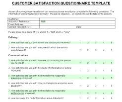 Customer Satisfaction Survey Template Mesmerizing Customer Satisfaction Survey Questions Pdf Sample Questionnaire