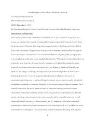 fracking essay due st 1 chris frasquieri s policy memo hydraulic fracturing to president barack obama from christopher