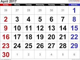 april calendar 2017 april calendar