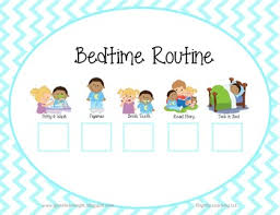 Bedtime Routine Chart Bedtime Routine Checklist Horizontal