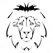 Lví Hlava Tetování Stock Vektor Lapotnik 39098865
