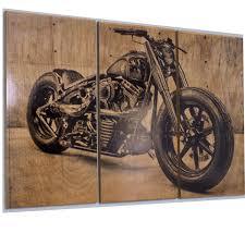 harley davidson fatboy softail motorcycle bike print