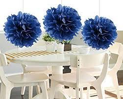 Tissue Paper Pom Poms Flower Balls Heartfeel 8pcs Navy Blue Tissue Paper Pom Poms Flower Ball Hanging Pom Wedding Party Outdoor Decoration Wedding Nursery Decorations Bridal Shower