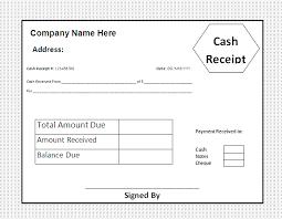 Cash Receipt Template Receipt Template Invoice Template