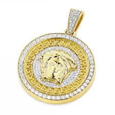 beautiful versace gold jewelry for men unique versace style diamond pendant medusa head medallion gold