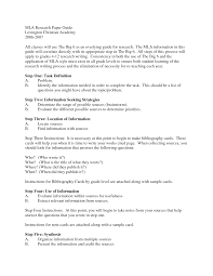 Sample Research Papers Mla Sample Papers In Mla Style The Mla