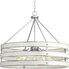 progress lighting p500090 141 gulliver 5 light drum pendant lighting galvanized
