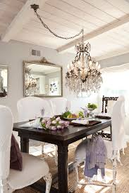 swag chandelier over dining table amazing moraethnic decorating ideas 19