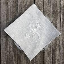 ... Napkin - Bespoke Grey Linen Monogram Placemat & Napkin ...