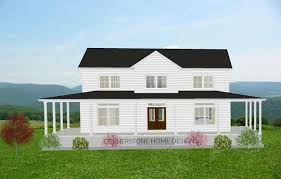 The Magnolia Farmhouse Plan. 2300 + sq ft, Simple layout, 2 story,