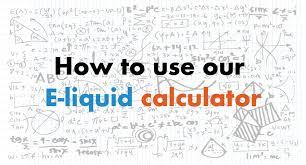 Vape Wild Diy Chart How To Use Our E Liquid Calculator Make My Vape