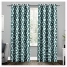 set of 2 pair gates blackout thermal grommet top window curtain ideas of turquoise curtain panels