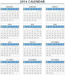 2014 Calendar Excel Excel Calendar Template Ms Office Calendars