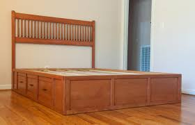 diy woodworking king size captains bed plans used serene