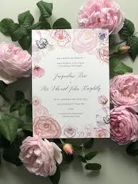 Peony Lane Designs Roses Peonies Wedding Invitation By Hollyhock Lane