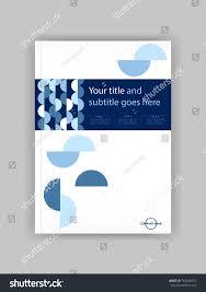blue a4 business book cover design template good for portfolio brochure annual report