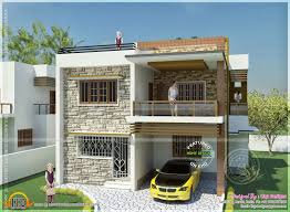 Home Design  Double Storied Tamilnadu House Design Kerala Home    Awesome d Modern Front Elevation Design In Tamilnadu Images   Double Storied Tamilnadu House Design Kerala
