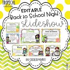 Open House Powerpoint Back To School Night Open House Tropical Editable Powerpoint Slideshow