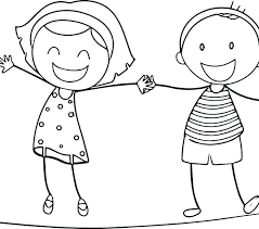 Boy And Girl Coloring Pages Boy And Girl Coloring Page Pilgrim Boy