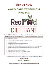 6 Week Online Weight Loss Program Real Food Dietitians