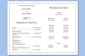 Sample Wedding Programs Templates Free Programme Template Free Magdalene Project Org