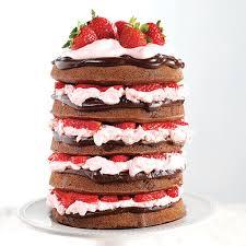 Naked Chocolate Covered Strawberry Cake Recipe Wilton