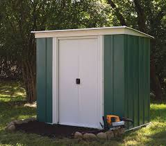 this rowlinson metal shed features a pent roof and a sliding door ideal for all
