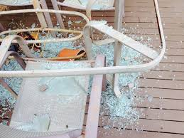 my glass patio table shattered designs