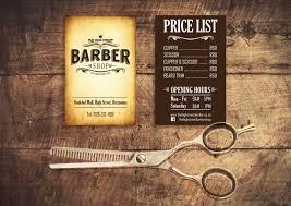 Barber Business Cards Design Business Card Design Vintage Barbershop Barber
