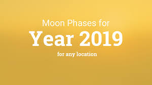 Moon Chart October 2018 Moon Phases 2019 Lunar Calendar