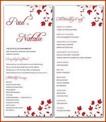 Free Microsoft Word Wedding Program Template Microsoft Word Wedding Program Template Mwb Online Co
