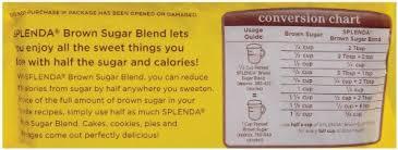 Splenda To Sugar Conversion Chart Splenda Sugar Blend 2 Pound 4lb Eqv