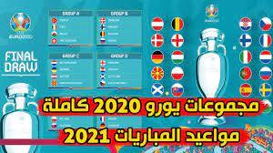إكتمال مجموعات يورو 2020 مواعيد المباريات في 2021 - YouTube