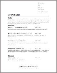 Resume Format Template Musiccityspiritsandcocktail Com