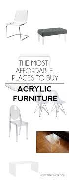 lucite furniture inexpensive. Roundup Of The Most Affordable Acrylic Furniture Pieces Out There! Lucite Inexpensive I