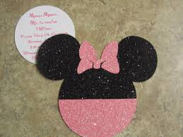 Homemade Minnie Mouse Invitations Template Resume Builder Baby