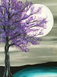 8 a purple moon romantic scenery