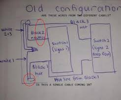 wiring a new light fan combo switch black and white wires old config jpg views 2408 size 30 2 kb