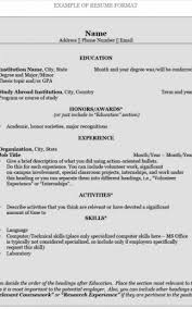 Address Format On Resume Awesome Format For Writing A Resume Adorable How To Write A Resumer