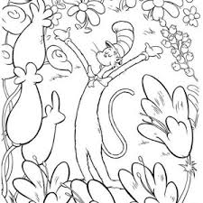 Small Picture Cat In The Hat Coloring Pages Coloring Coloring Pages